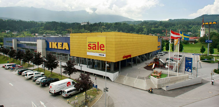 imgang ikea entrance plaza innsbruck. Black Bedroom Furniture Sets. Home Design Ideas